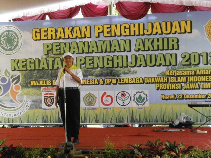 Ketua DPW LDII Provinsi Jawa Timur Ir. Chriswanto Santoso, MSi saat memberikan sambutan