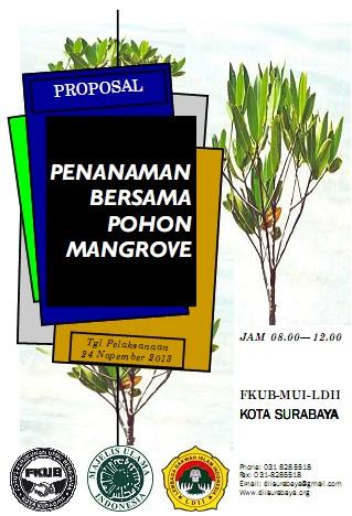 Penanaman 1000 Pohon Mangrove Oleh FKUB MUI dan LDII Surabaya