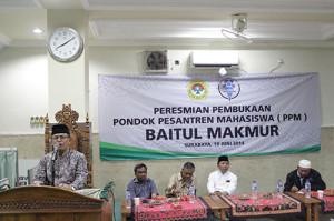 Dewan Penasehat LDII KH. Abdul Syukur membuka peresmian PPM Baitul Makmur Surabaya