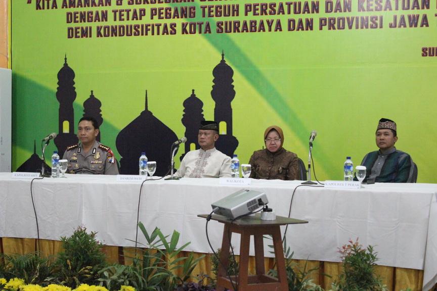 Danrem 084/BJ : Pasca Pilpres, Kota Surabaya di Jamin Aman dan Tetap Kondusif