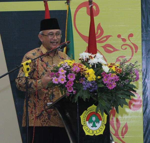 Ketua DPW LDII Provinsi Jawa Timur dipembukaan MUSDA VII LDII kota Surabaya