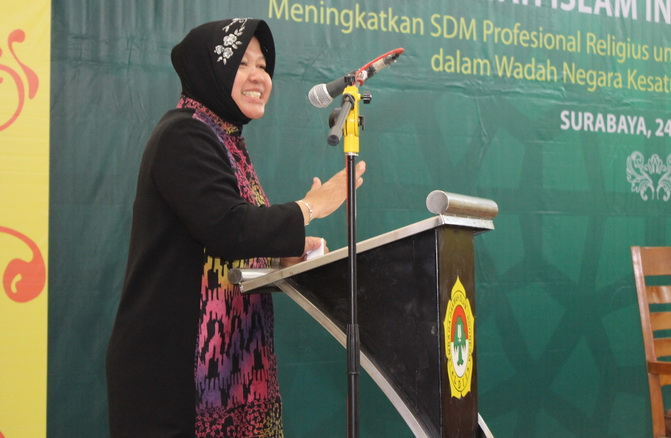 Sambutan Walikota Ir.Tri Rismaharini, MT di Musda VII DPD LDII kota Surabaya.
