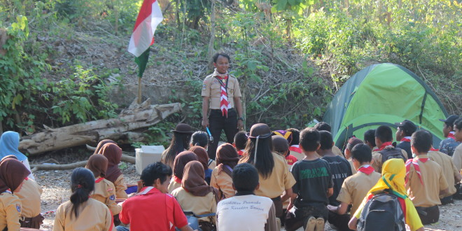 Kwarcab Kabupaten Muna sambut Sako Pramuka Sekawan Persada Nusantara