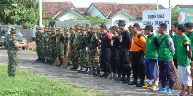 Gerakan Nasional Indonesia Bersih, Korem 084/BJ Ajak LDII Bersih-Bersih Rumdis Kodam V/Brw