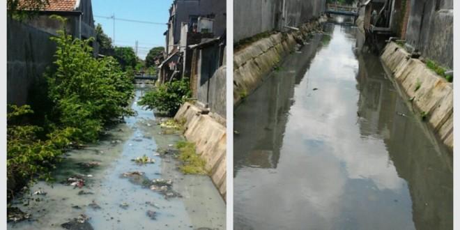 Cegah Banjir, Warga LDII Rangkah Bersih-bersih Sungai